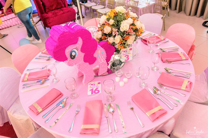 My Little Pony guest table from a My Little Pony Birthday Party on Kara's Party Ideas | KarasPartyIdeas.com (30)