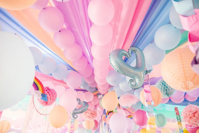Ceilingscape From A My Little Pony Birthday Party On Karas Ideas