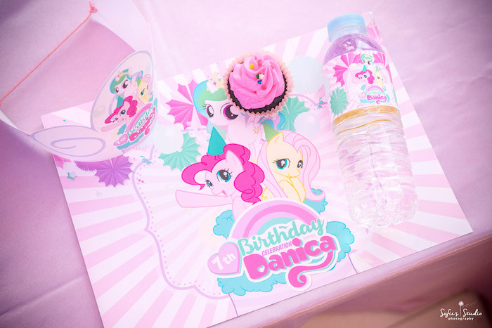 My Little Pony Place Setting from a My Little Pony Birthday Party on Kara's Party Ideas | KarasPartyIdeas.com (6)