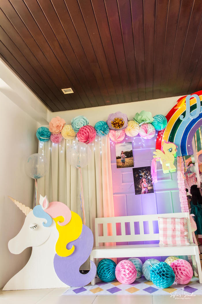 Lounge area from a My Little Pony Birthday Party on Kara's Party Ideas | KarasPartyIdeas.com (3)