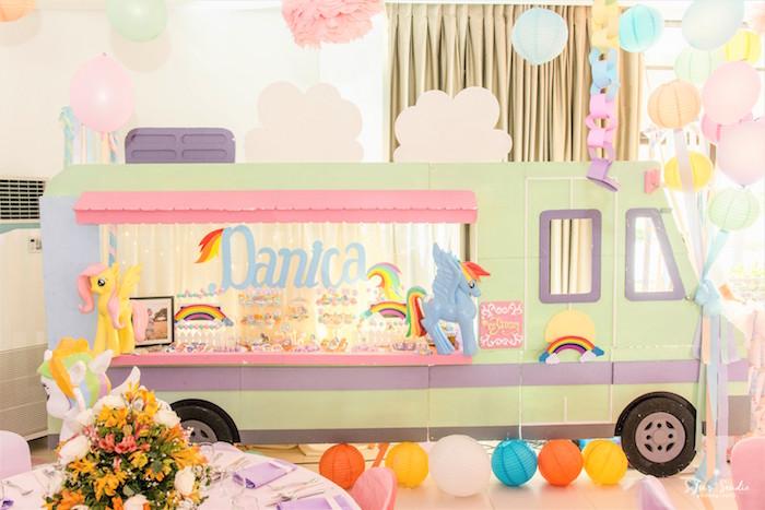 Sweet table from a My Little Pony Birthday Party on Kara's Party Ideas | KarasPartyIdeas.com (24)