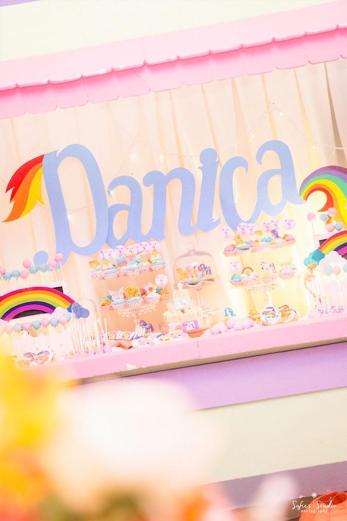 Sweet table from a My Little Pony Birthday Party on Kara's Party Ideas | KarasPartyIdeas.com (23)