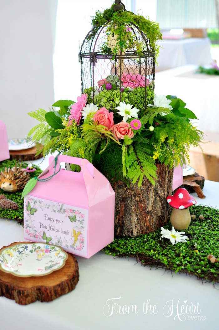 Pixie Hollow table centerpiece from a Neverland Birthday Party on Kara's Party Ideas   KarasPartyIdeas.com (41)