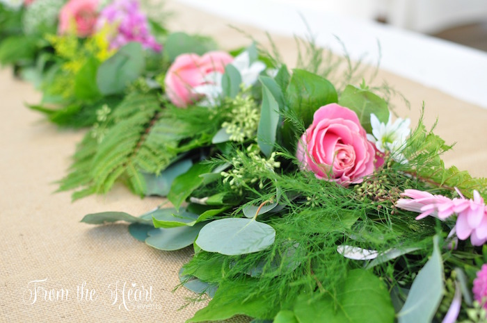 Green floral runner from a Neverland Birthday Party on Kara's Party Ideas | KarasPartyIdeas.com (39)