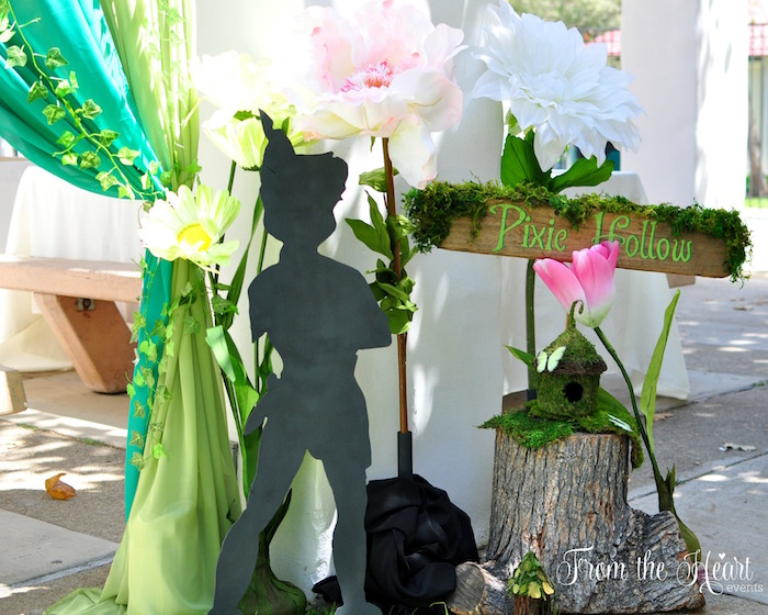 Pixie Hollow signage + entrance from a Neverland Birthday Party on Kara's Party Ideas | KarasPartyIdeas.com (38)