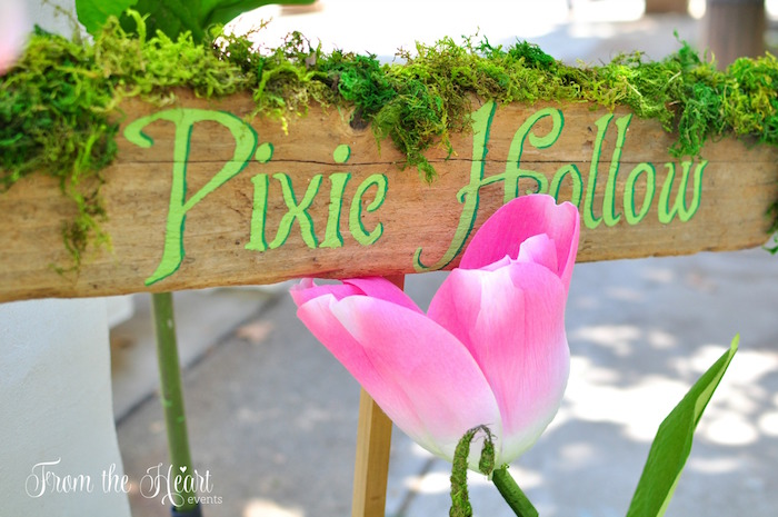 Pixie Hollow signage from a Neverland Birthday Party on Kara's Party Ideas | KarasPartyIdeas.com (35)