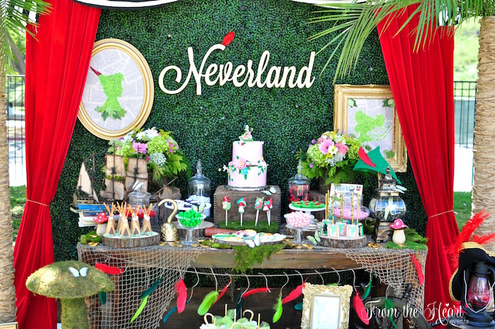 Neverland dessert table from a Neverland Birthday Party on Kara's Party Ideas | KarasPartyIdeas.com (32)