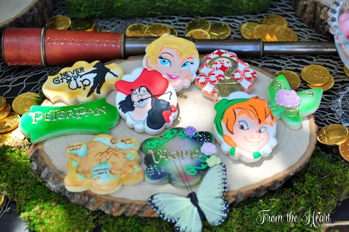 Neverland cookies from a Neverland Birthday Party on Kara's Party Ideas | KarasPartyIdeas.com (31)