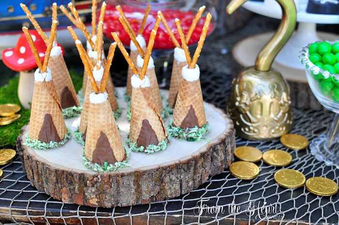 Indian Camp Cones from a Neverland Birthday Party on Kara's Party Ideas   KarasPartyIdeas.com (26)