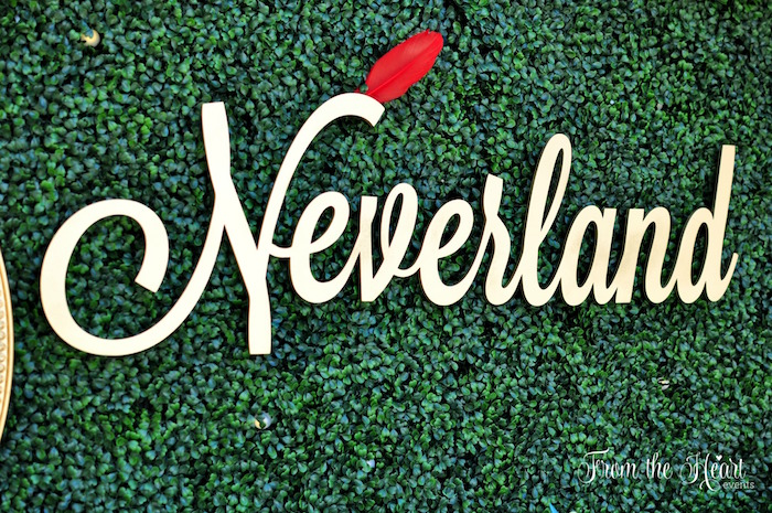 Neverland signage from a Neverland Birthday Party on Kara's Party Ideas | KarasPartyIdeas.com (24)
