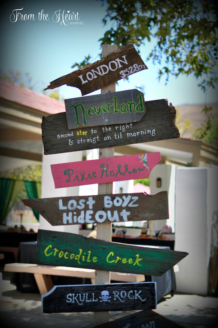 Signage from a Neverland Birthday Party on Kara's Party Ideas   KarasPartyIdeas.com (51)