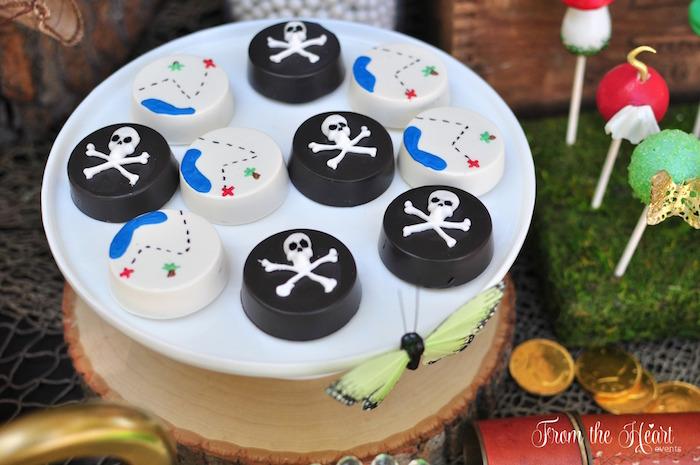 Treasure Island Oreos from a Neverland Birthday Party on Kara's Party Ideas | KarasPartyIdeas.com (23)