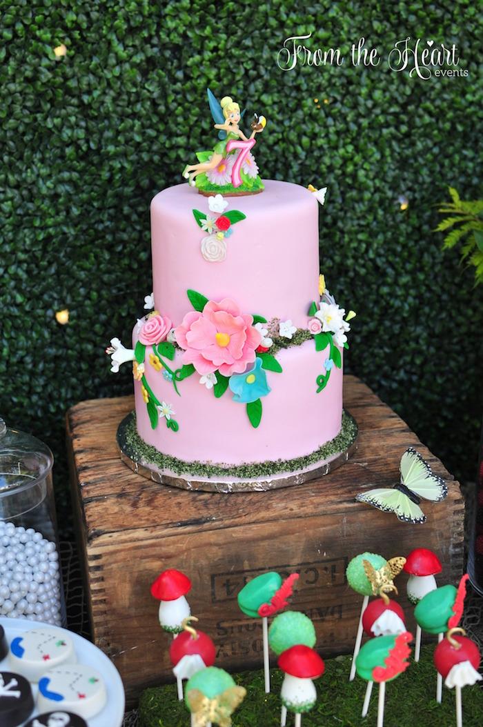 Cake from a Neverland Birthday Party on Kara's Party Ideas | KarasPartyIdeas.com (22)
