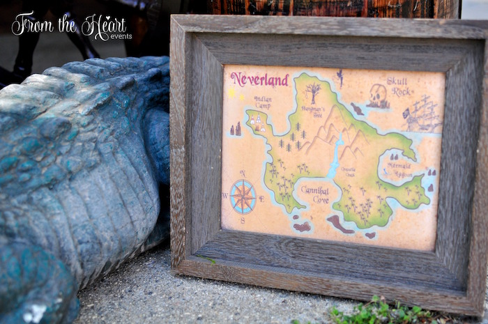 Neverland Map + signage from a Neverland Birthday Party on Kara's Party Ideas | KarasPartyIdeas.com (19)