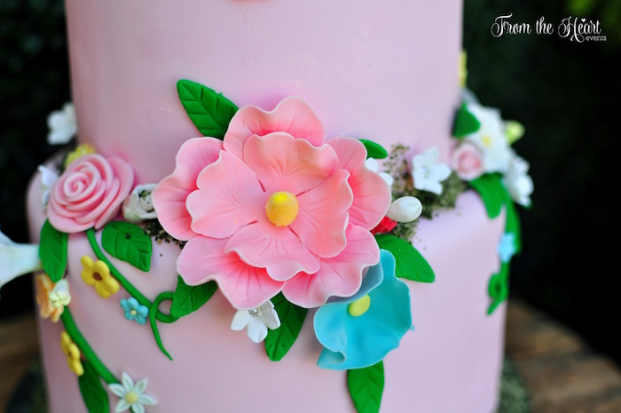 Cake flower detail from a Neverland Birthday Party on Kara's Party Ideas | KarasPartyIdeas.com (16)