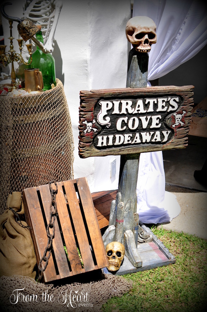 Pirate's Cove Hideaway from a Neverland Birthday Party on Kara's Party Ideas   KarasPartyIdeas.com (44)