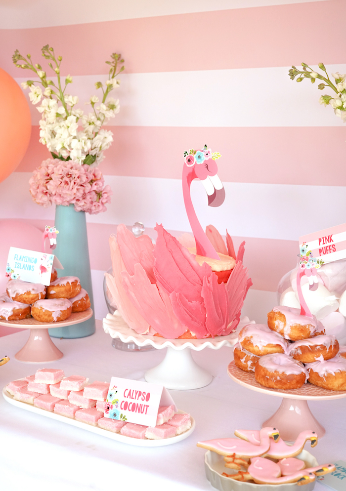 Pink Flamingo Birthday Party on Kara's Party Ideas | KarasPartyIdeas.com (15)