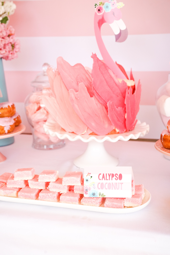 Cakescape from a Pink Flamingo Birthday Party on Kara's Party Ideas | KarasPartyIdeas.com (14)