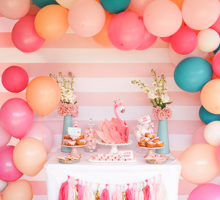 Pink Flamingo Birthday Party on Kara's Party Ideas | KarasPartyIdeas.com (7)