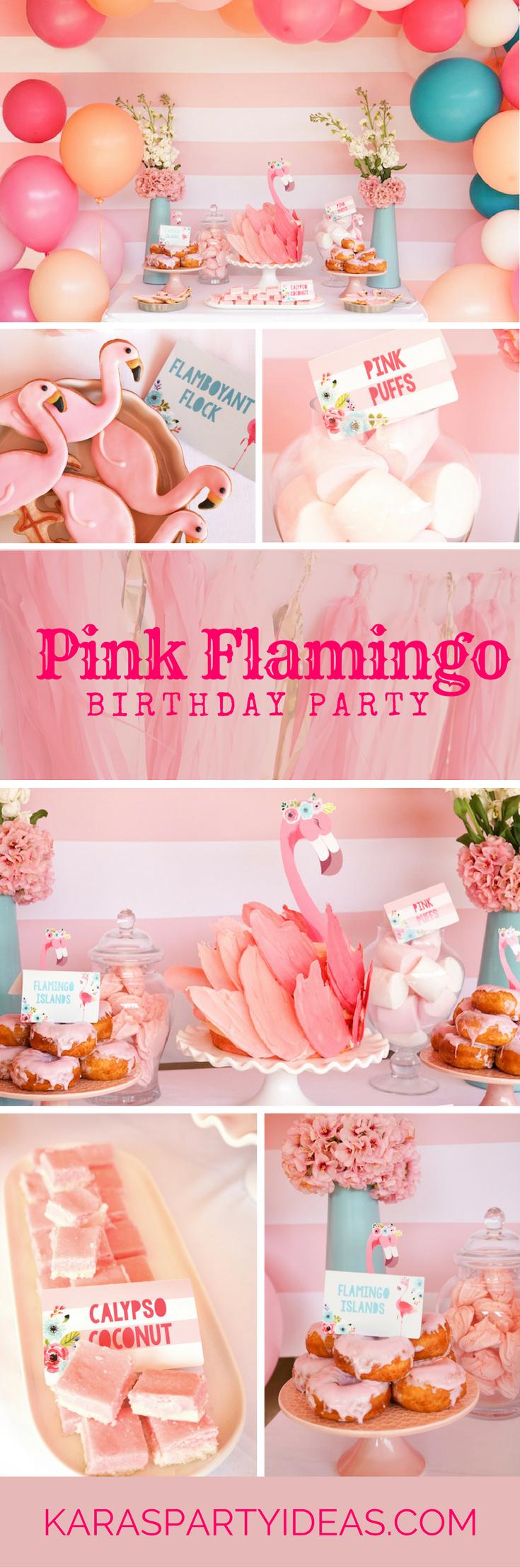 Pink Flamingo Birthday Party via Kara's Party Ideas - KarasPartyIdeas.com