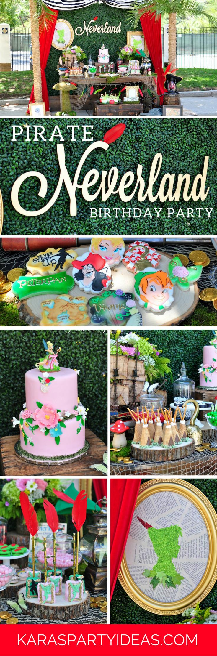 Pirate Neverland Birthday Party via Kara's Party Ideas - KarasPartyIdeas.com