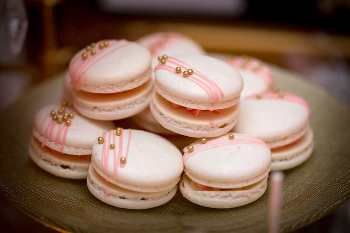 Macarons from a Queen Marie Antoinette 30th Birthday Party on Kara's Party Ideas | KarasPartyIdeas.com (14)