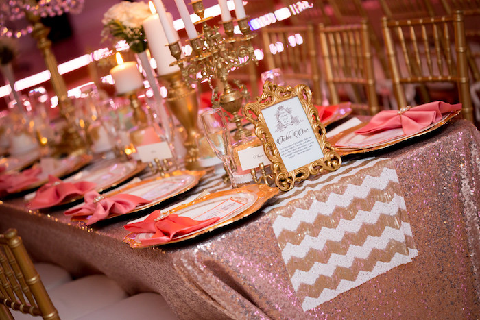 Guest tablescape from a Queen Marie Antoinette 30th Birthday Party on Kara's Party Ideas | KarasPartyIdeas.com (9)
