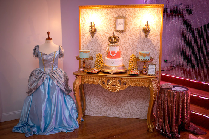 Cake table from a Queen Marie Antoinette 30th Birthday Party on Kara's Party Ideas | KarasPartyIdeas.com (6)