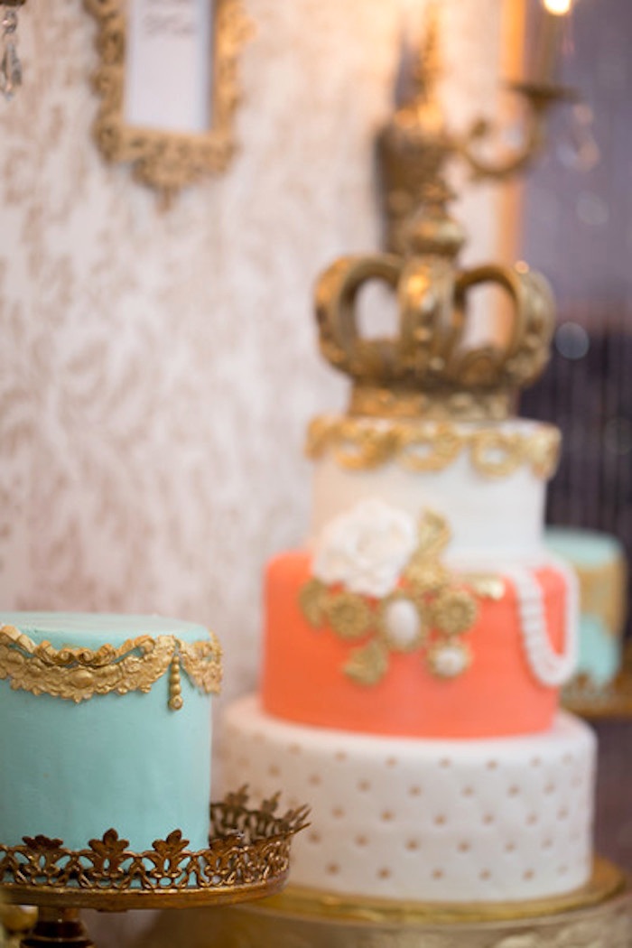 Cakes from a Queen Marie Antoinette 30th Birthday Party on Kara's Party Ideas | KarasPartyIdeas.com (19)