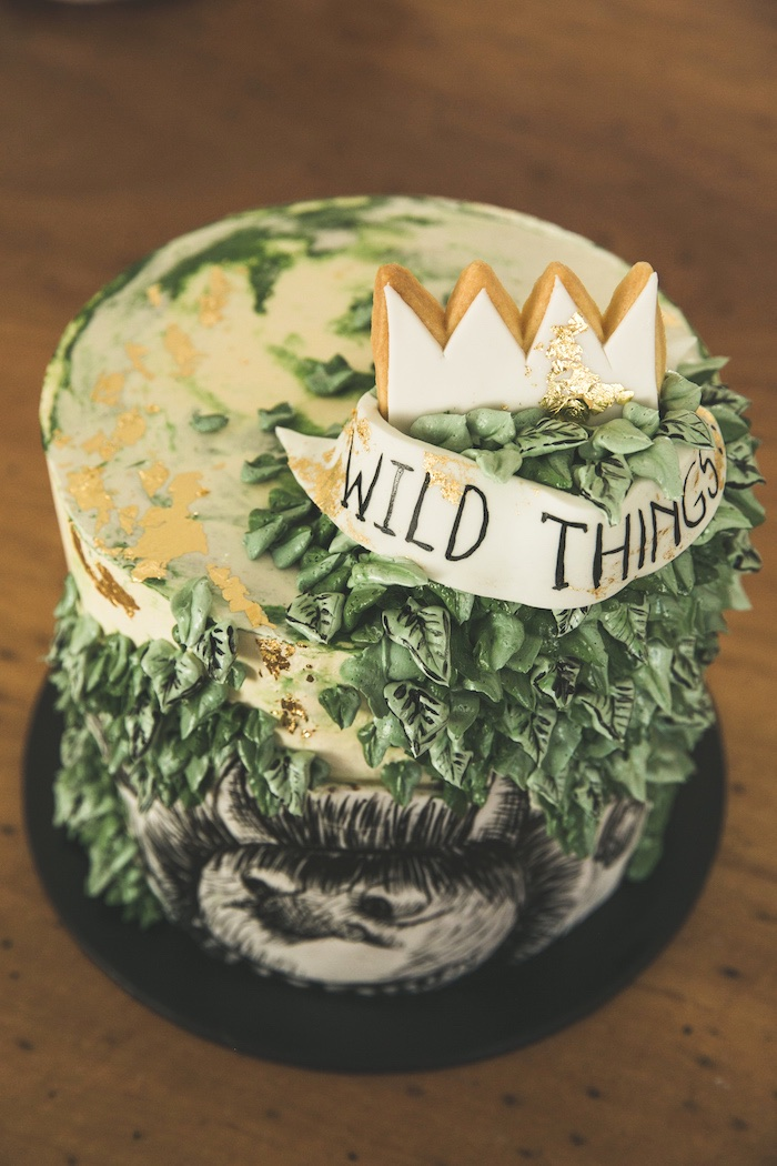 """Where The Wild Things Are Cake from a Rustic """"Where the Wild Things Are"""" Birthday Party on Kara's Party Ideas   KarasPartyIdeas.com (16)"""