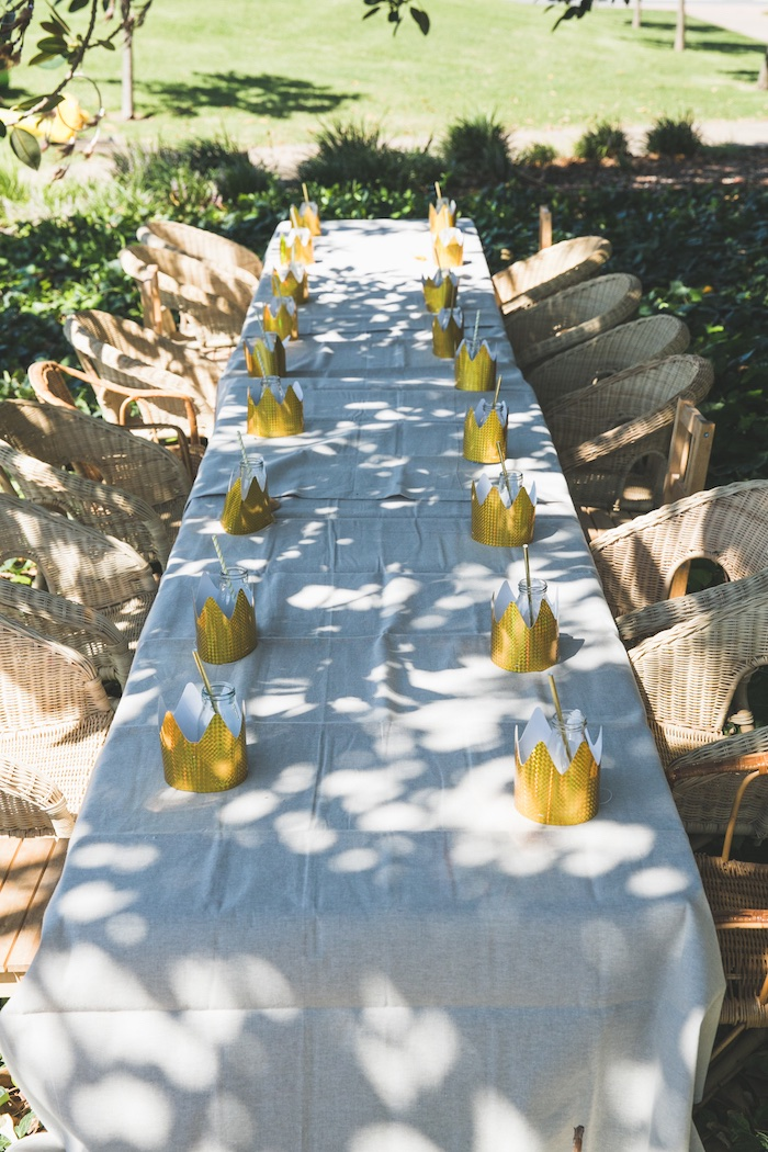 "Guest tablescape from a Rustic ""Where the Wild Things Are"" Birthday Party on Kara's Party Ideas 