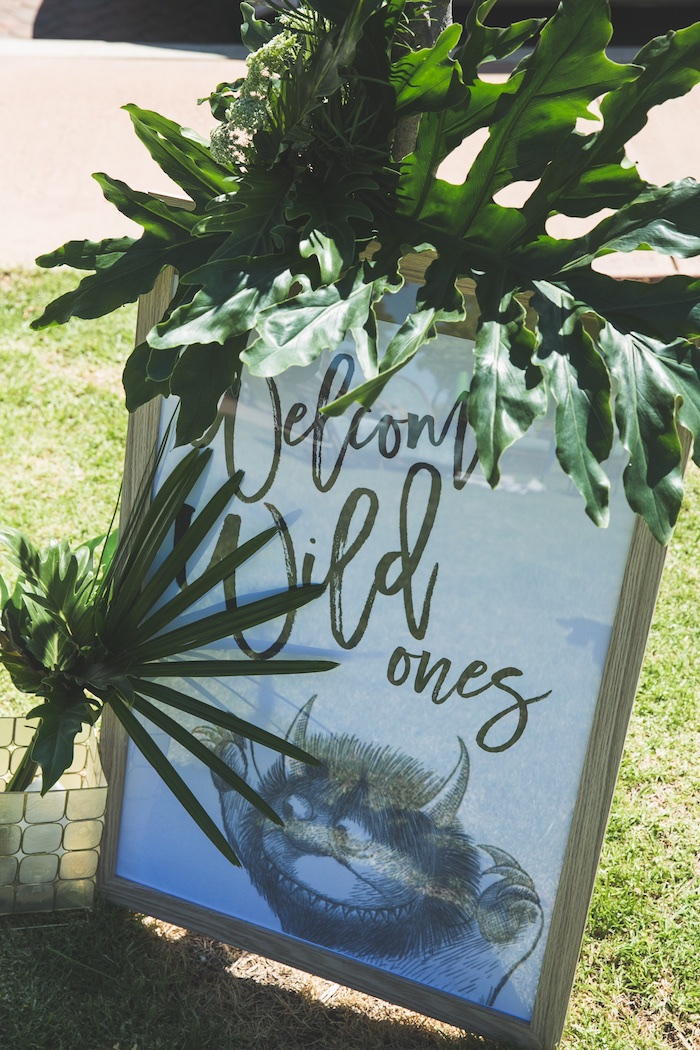 "Signage from a Rustic ""Where the Wild Things Are"" Birthday Party on Kara's Party Ideas 