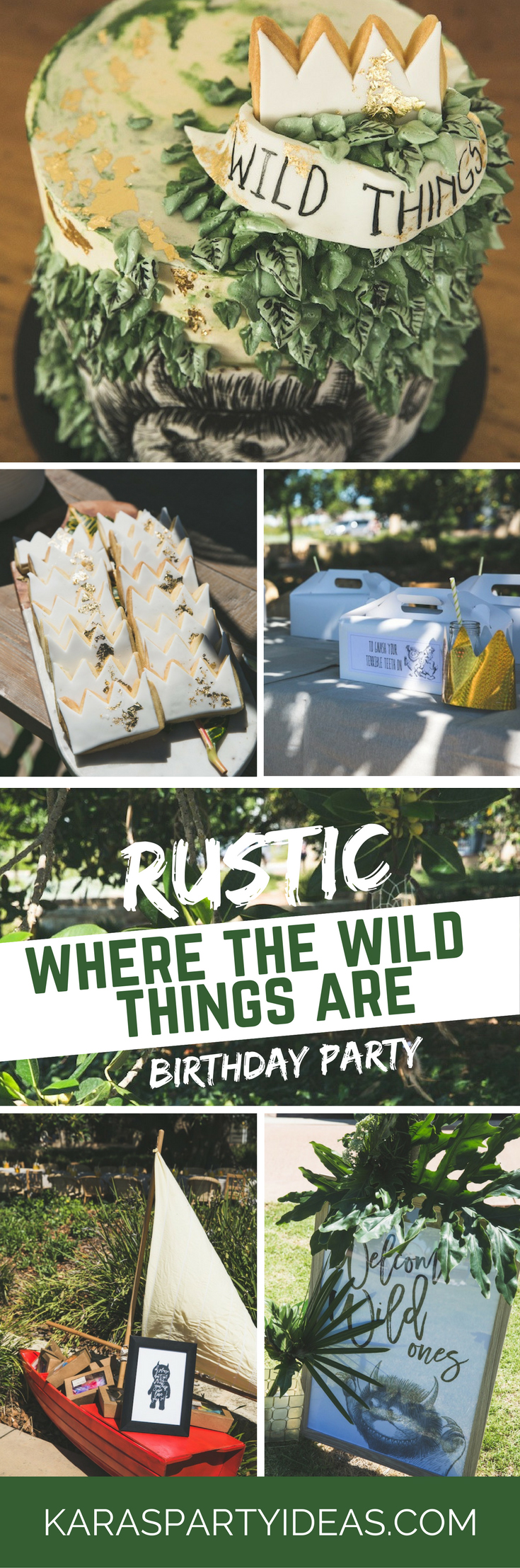 Rustic Where the Wild Things Are Birthday Party via Kara's Party Ideas - KarasPartyIdeas.com