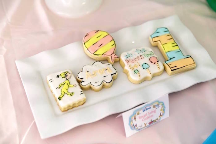 Dr. Seuss Cookies from a Seussville Birthday Party on Kara's Party Ideas | KarasPartyIdeas.com (23)