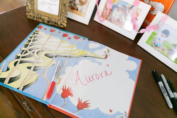 Dr. Seuss guest book from a Seussville Birthday Party on Kara's Party Ideas | KarasPartyIdeas.com (22)
