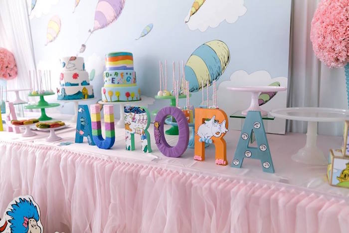 Dr. Seuss Letter Name Sign from a Seussville Birthday Party on Kara's Party Ideas | KarasPartyIdeas.com (34)