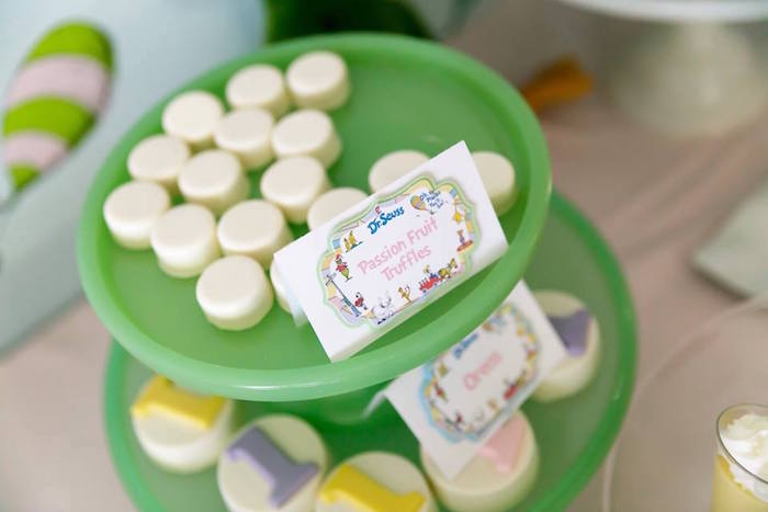 Sweets and signage from a Seussville Birthday Party on Kara's Party Ideas | KarasPartyIdeas.com (12)