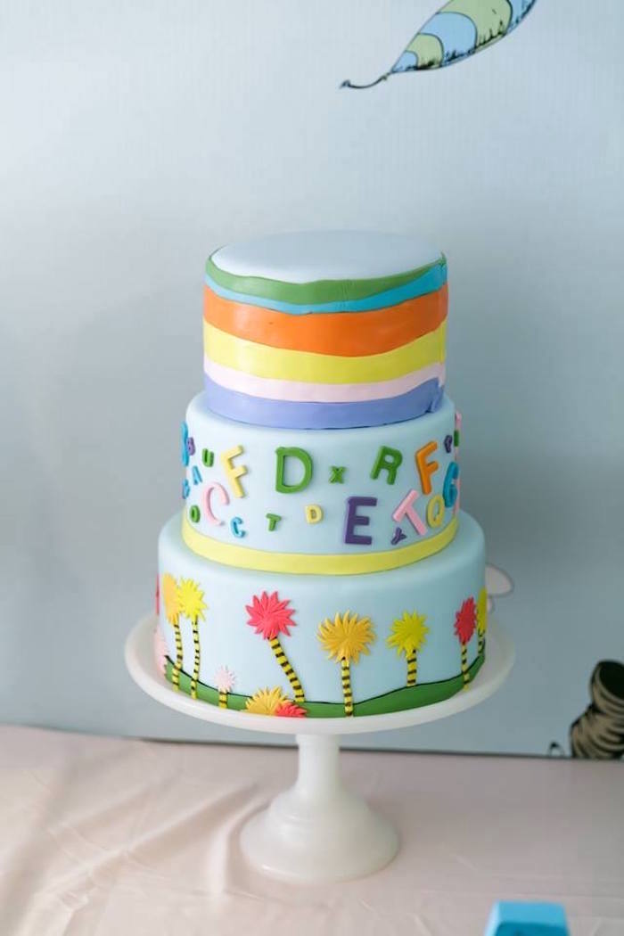 Dr. Seuss Cake from a Seussville Birthday Party on Kara's Party Ideas | KarasPartyIdeas.com (11)