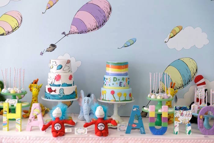 Cakescape from a Seussville Birthday Party on Kara's Party Ideas | KarasPartyIdeas.com (9)