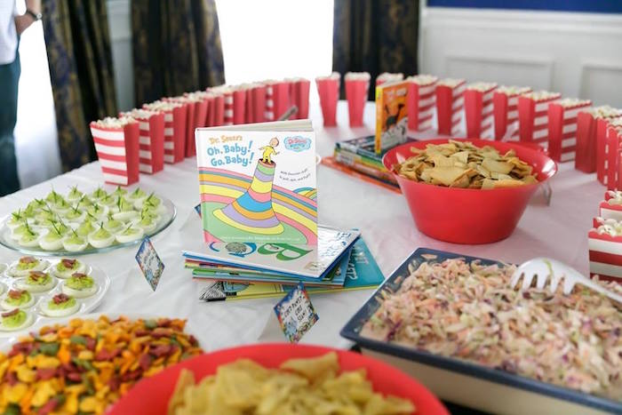 Food table from a Seussville Birthday Party on Kara's Party Ideas | KarasPartyIdeas.com (7)