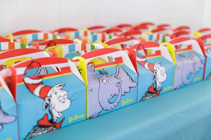 Dr. Seuss Gable Favor Boxes from a Seussville Birthday Party on Kara's Party Ideas | KarasPartyIdeas.com (31)