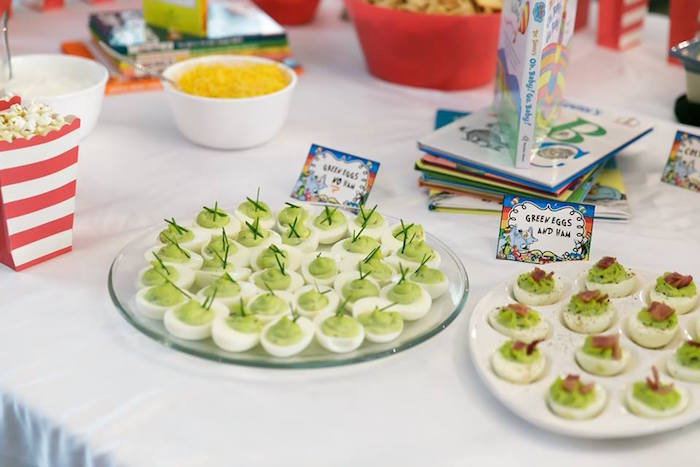 Green Eggs & Ham from a Seussville Birthday Party on Kara's Party Ideas | KarasPartyIdeas.com (30)
