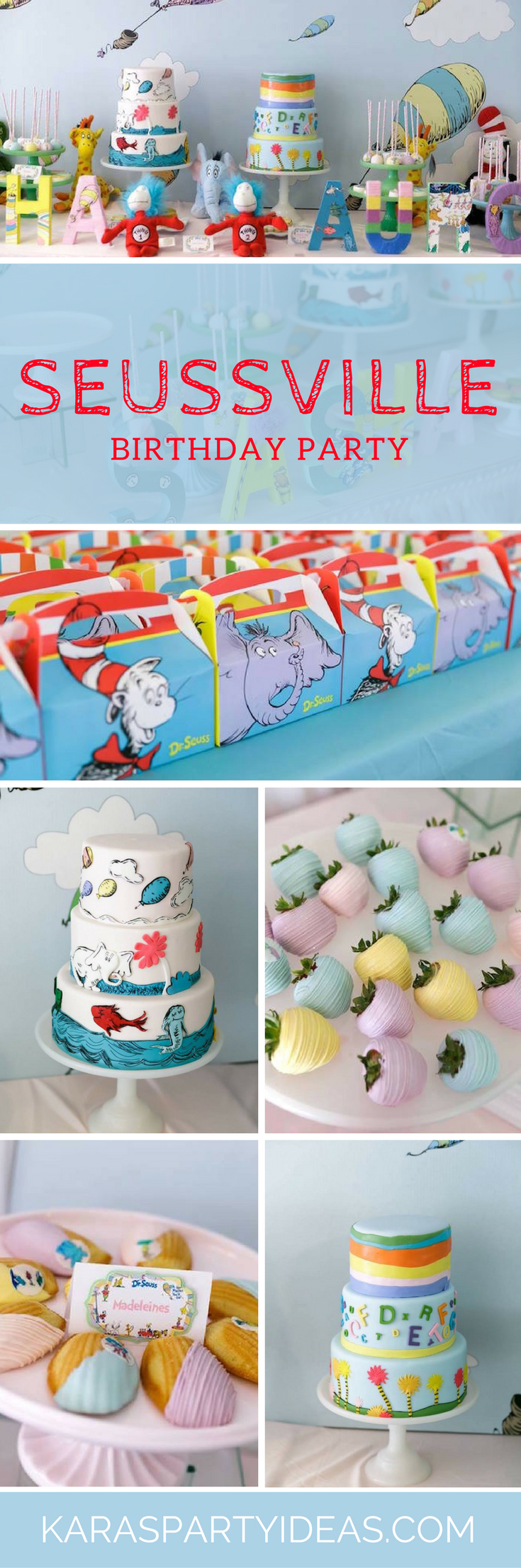 Seussville Birthday Party via Kara's Party Ideas - KarasPartyIdeas.com