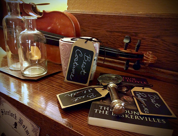Prizes from a Sherlock Holmes Murder Mystery Party on Kara's Party Ideas | KarasPartyIdeas.com (13)