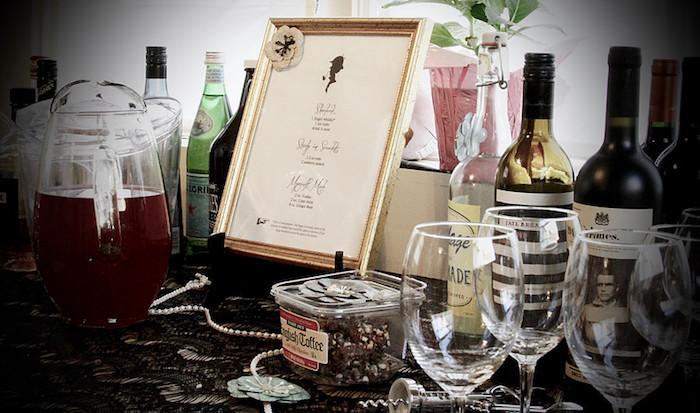 Sherlock's Bar from a Sherlock Holmes Murder Mystery Party on Kara's Party Ideas | KarasPartyIdeas.com (10)