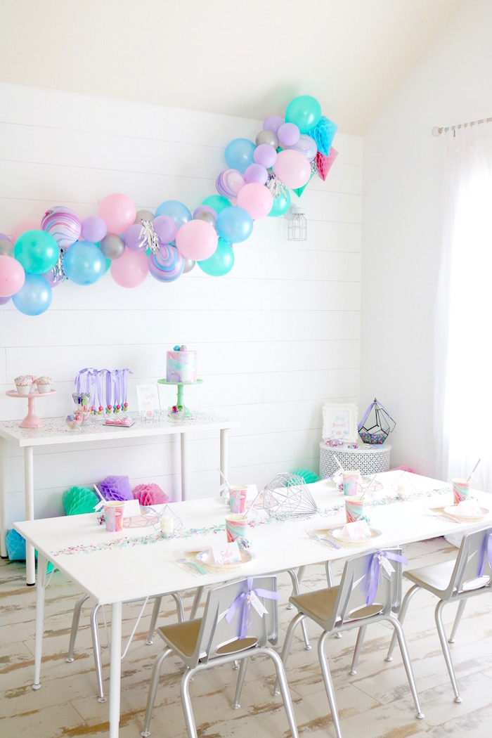 Kara S Party Ideas Shiny Pastel Quot She S A Gem Quot Birthday