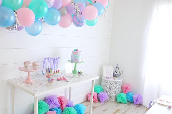 "Shiny Pastel ""She's a Gem"" Birthday Party on Kara's Party Ideas | KarasPartyIdeas.com (12)"