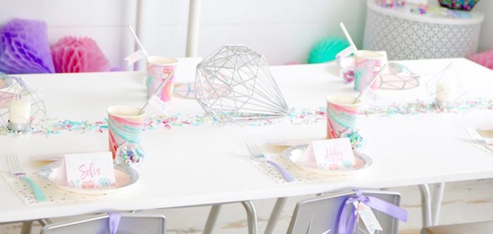 "Shiny Pastel ""She's a Gem"" Birthday Party on Kara's Party Ideas | KarasPartyIdeas.com (2)"