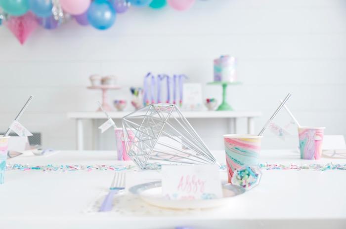 "Shiny Pastel ""She's a Gem"" Birthday Party on Kara's Party Ideas | KarasPartyIdeas.com (33)"