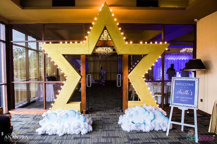 Star light entrance from a Stars and Moon Birthday Party on Kara's Party Ideas | KarasPartyIdeas.com (22)
